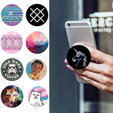 POP Creative drawing Socket phone holder Expanding Stand Grip Mount  For Apple Samsung phone ring