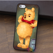 Cool Winnie The Pooh fashion cell phone case for iphone 4 4s 5 5s 5c SE 6 6s 6 plus 6s plus 7 7plus &qq61