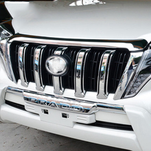 Accessories For Toyota Land Cruiser Prado J150 2014-2016 ABS Chrome Exterior Front Center Grill Grille Cover Trim Racing Grills