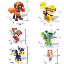 High quality 6PCS Kids Toy Puppy Patrol Dogs Action Figures Patrulla Canina pawed Toys Car Puppy Patrol For Children