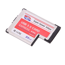 Hot Sale USB 3.0 PCI Express Card Adapter 5Gbps Dual 2 Ports HUB PCI Slot ExpressCard PCMCIA USB Converter For Laptop Notebook(China)