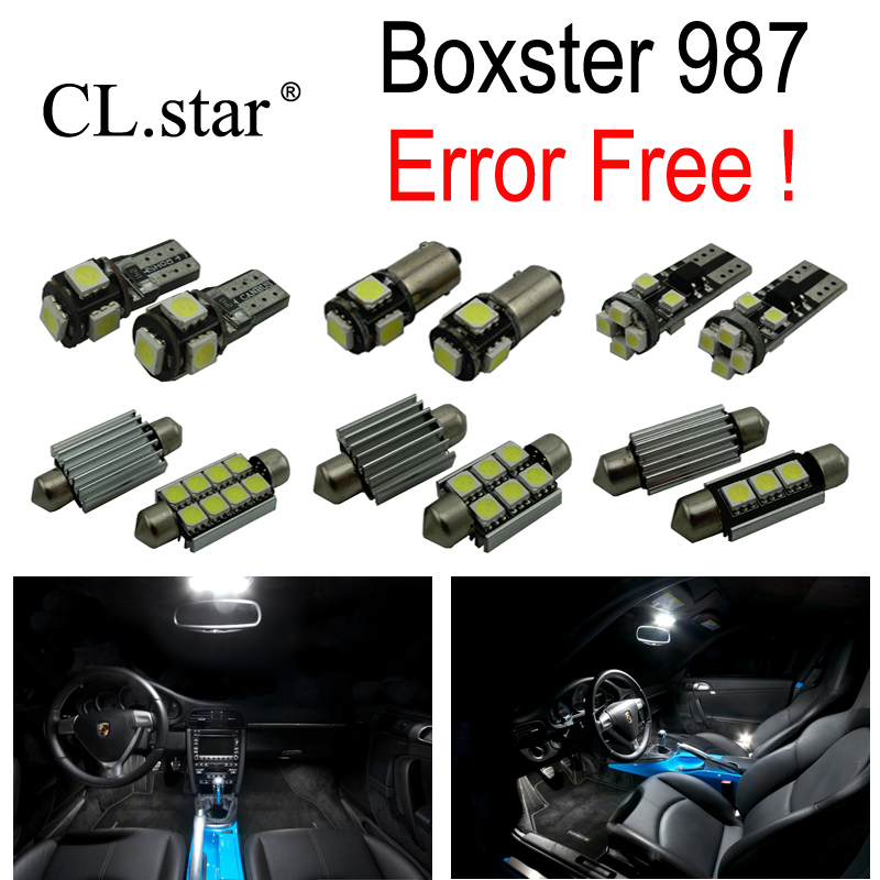 16pc X Error free LED lamp Interior dome map Light Kit Package For Porsche Boxster 987 Base S (2005-2011) <br>