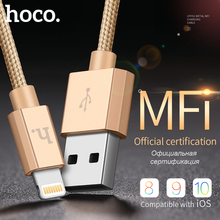 HOCO Original Metal MFI Charging USB Cable Apple iPhone iPad Lightning Charger Wire 8 pin Cord OTG Nylon Data Sync Transfer - official store