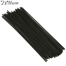 50Pcs/set Black Rattan Reed Fragrance Oil Diffuser Replacement Refill Sticks Party Home Bedroom Bathrooms Decor Gifts 250x3mm