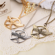 the hunger games 3 necklace logo bird new version vintage retro big pendant for men and women wholesale