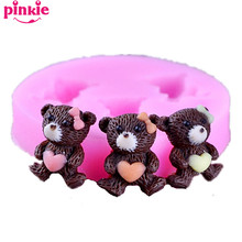 Bear  Shaped silicone Fondant Mold,Resin Clay Chocolate Candy Silicone Cake Mould,Fondant Cake Decorating Tools