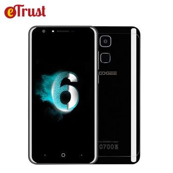 Doogee y6 negro piano 4g teléfono móvil 5.5 pulgadas hd mtk6750 Octa Core Android 6.0 4 GB RAM 64 GB ROM 13MP IDENTIFICACIÓN de Huellas Dactilares Smartphone