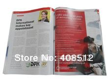 A4 size 32 pages catalogue/magazine printing -MOQ 500pcs - saddle stitched(China)