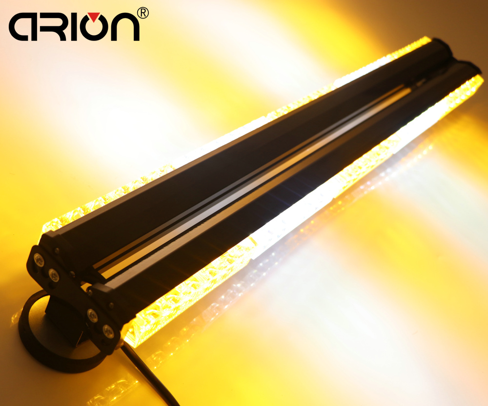 CIRION SALE DOUBLE SIDE 760MM 30 INCH 60 LED WORK LIGHT BAR EMERGENCY WARNING STROBE FLASHING BEACON LIGHTS LAMP AMBER/WHITE(China (Mainland))