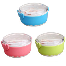 BearKnight Children 'S Student Lunch Boxs Fast Food Dish Household Plastic Refrigerator Fresh Boxs Kitchen Food Storage Sealed(China)