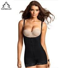 80727acb197a1 TOPMELON Modeling Strap Underwear Women Butt Lifter Belly Slimming Sheath Body  Shaper Bodysuit Sexy Plunge U Lace Lingerie