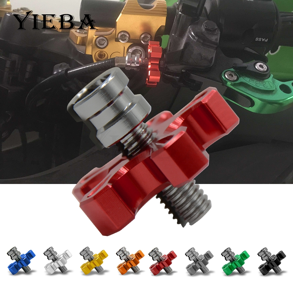 Motorcycle CNC Billet Clutch Cable Wire Adjuster Screw M8&M10*1.25 For HONDA CBR500R CB500F CB500X CB600F HORNET