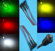10 x 3mm LED Pre-Wired  20CM 12V DC with Plastic Bezel Holders White Red Blue Green Yellow warm-White RGB Pre wired  Light Bulb
