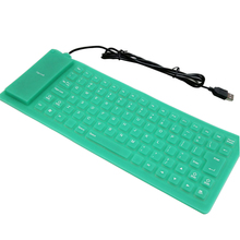 MOUGOL soft Silicone Keyboard USB 2.0 roll-up Flexible Mini English Keyboard For notebooks, tablet PCs, smartphones