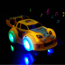 1pcs Kid's Toy Christmas Electronic Toys Automatic Steering Flashing Music Racing Car Electric Universal Baby Toy Brinquedos Car