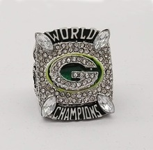 Factory direct sale 2010 Super Bowl Green Bay Packers Zinc Alloy silver plated Championship Ring Custom Sports Replica Jewelry