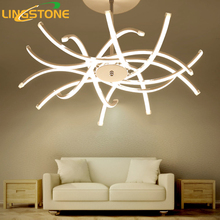 Led Chandelier Lighting Lustre Hanglamp Fixture Chrome Ceiling Plate Chandelier Lamp Living Room Bedroom Dining Room Restaurant(China)