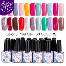 Sexy mix Hot Sale Brown Color Series LED Gel Nail Polish Glitter Cheap Price Long Lasting UV Lamp Professional Gel Nail Lacquers