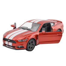 High Simulation KiNSMART 1:38 Ford Mustang GT alloy pull back model cars Two door sports car kids toys gifts free shipping(China)