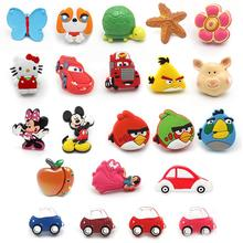Cute cartoon Minnie single handle for kids room pulls cabinet resin knobs children handle furniture accessories(China)