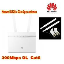 Huawei B525 4G LTE WLAN Router 300Mbit plus 2pcs antenna(China)
