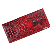 FGGS Hot Women Wallet Female 2017 Coin Purses Holders PU Leather 3D Embossing Alligator Ladies Crocodile Long Clutch Wall
