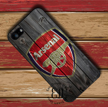 Arsenal Football Club on Wood case for iphone X 4 5s SE 5c 6s 7 8 plus Samsung s3 s4 s5 mini s6 s7 s8 edge plus Note 3 4 5 8(China)
