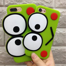 Fashion Cute 3D Frog Big Eyes Silicone Case For iPhone 6S 6 7 Plus Cases Luxury  Big Eyes Cute Phone Cases For iPhone 7 6 Cover