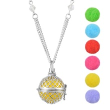 FUNIQUE Hollow Essential Oil Aroma Perfume Diffuser Locket Aromatherapy Necklace Diffuser Jewelry Women Lovely Gifts 1PCs 77cm