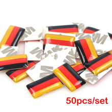 LINGUO 50pcs/lot, New Car styling Germany small Decorative Badge Hub caps Steering wheel for VW AUDI Skoda Seat Alfa Car Sticker(China)