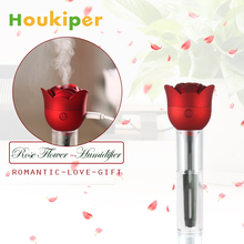 Houkiper Rose Flower USB Mini Humidifier Air Purifier Aroma Diffuser Atomizer Ultrasonic Cool Mist Humidifier for Office Home(China)