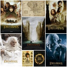 Lord of the Rings trilogy Lord of the Rings Middle Earth Hobbit Poster Magic Bar decorative painting study