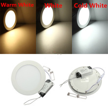 Free shipping 25W Ultra Thin led panel light warm/natural/cold white round led downlight AC85-265V LED Indoor Ceiling Lamp
