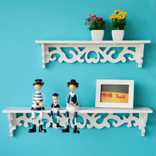 New Year Curved Wall Shelf Holder Christmas Decorations for Home Cut Out Design Wall Storage Stand(China)
