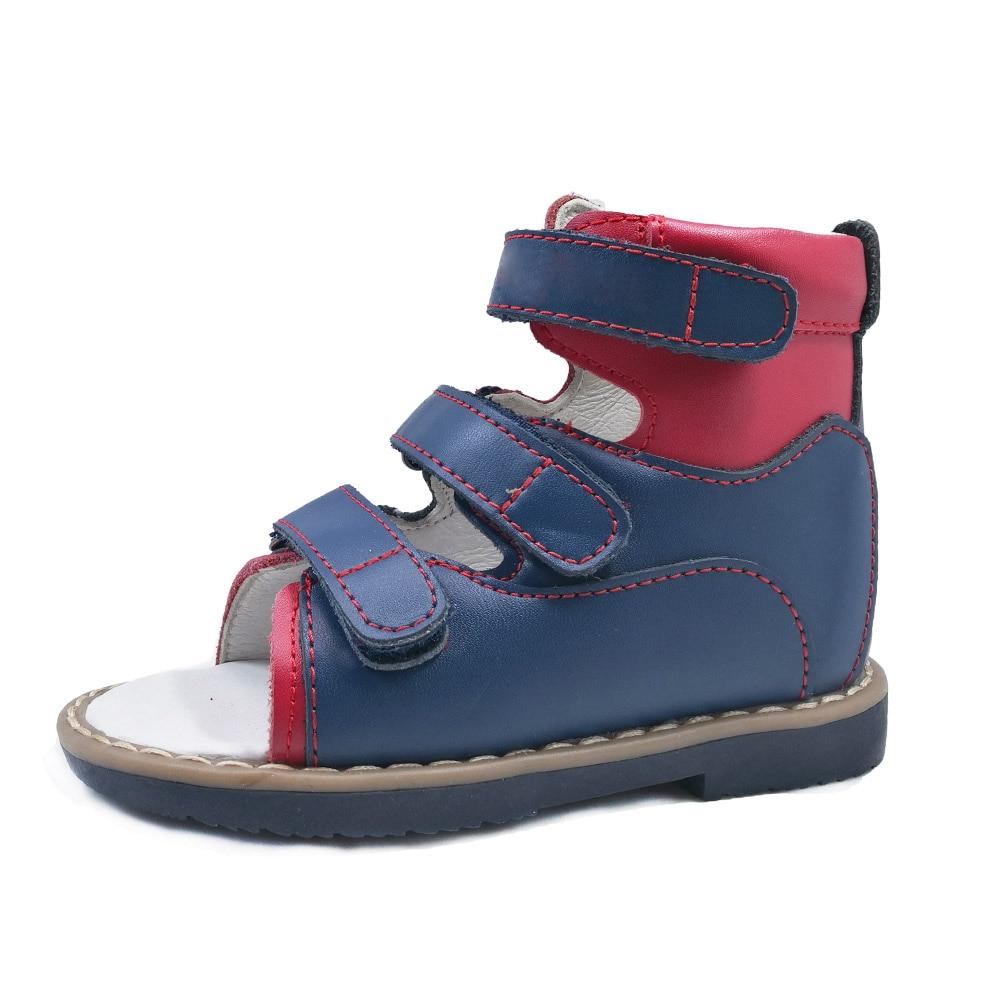 Popular 2018 summer kids shoes brand toddler boys sandals orthopedic leather child boys reinforcement  supinator sandals shoes<br>