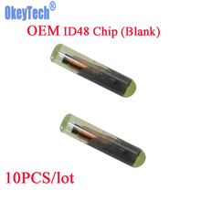 OkeyTech 10pcs/lot Car Key Chip Blank OEM ID48 Chip Auto Transponder Chip Glass ID 48 Unlock Chip High Quality Wholesale Chips(China)