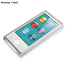 Running Camel Clear Transparent Hard Front Back Full Plastic Cover Shell Case For Apple iPod Nano 7 7G 7TH Generation + Films