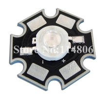 5pcs 3W 45mil Chip UV Ultraviolet 410~415nm LED Light Lamp part With 20mm Star Base
