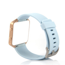 Bemorcabo for Fitbit Blaze Band,Soft Silicon Candy color Sports Watch Band Wrist Strap with Buckle for Fitbit Blaze Large Size