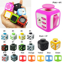 Size 3.3*3.3cm Fidget Cube Toy A Viny Desk Spin Anti-stress Fidget Toy Tri-Spinner Fidget Gift For ADHD Children Antistress Cubo