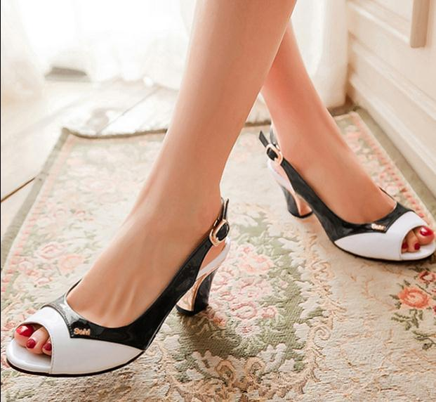 Hot Sale In Season Customize Small Size 30 31 32 33 2 Women Summer Pumps Girl Thick Heel Sandals Student Sexy Mixed Colors Shoes<br><br>Aliexpress