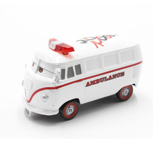 Disney Pixar Cars  Diecast Fillmore Ambulance Metal Alloy Toys Car For Children Christmas Gift 1:55 Loose In Stock