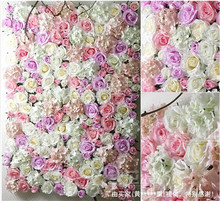 EMS Free Shipping 30pcs/lot Artificial silk rose flower wall wedding background lawn/pillar road lead market decoration