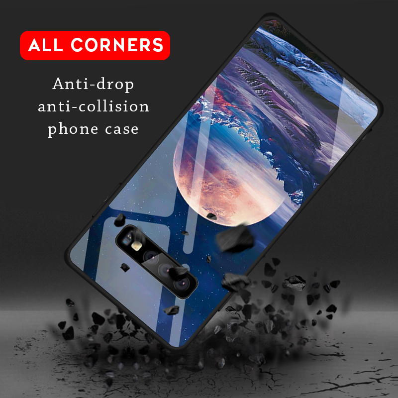 iStylishmall - Tempered Glass Shockproof Case For Samsung Galaxy S9 S8 Plus  Note 9 8