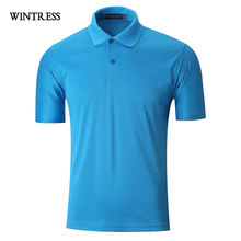 WINTRESS Summer Quick Dry Men Polo Shirt Turn-Down Collar Top Short Sleeve Polo Plus Size Clothes Can Custom Print(China)