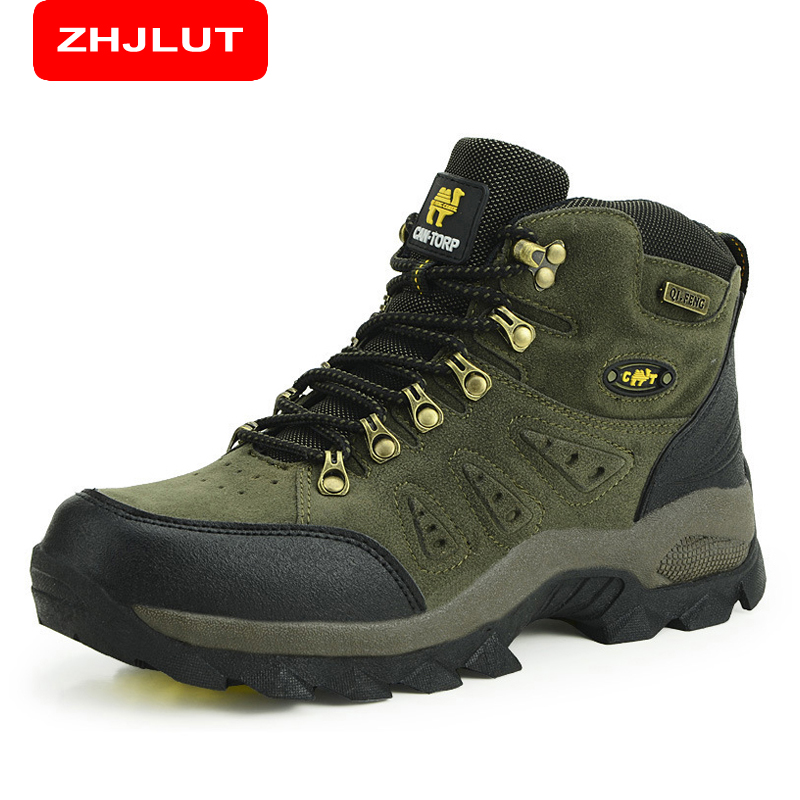 ZHJLUT Trekking Shoes Mens Hiking Shoes Anti-skid Mountain Climbing Boots Outdoor Athletic Breathable Men Waterproof 1216<br>