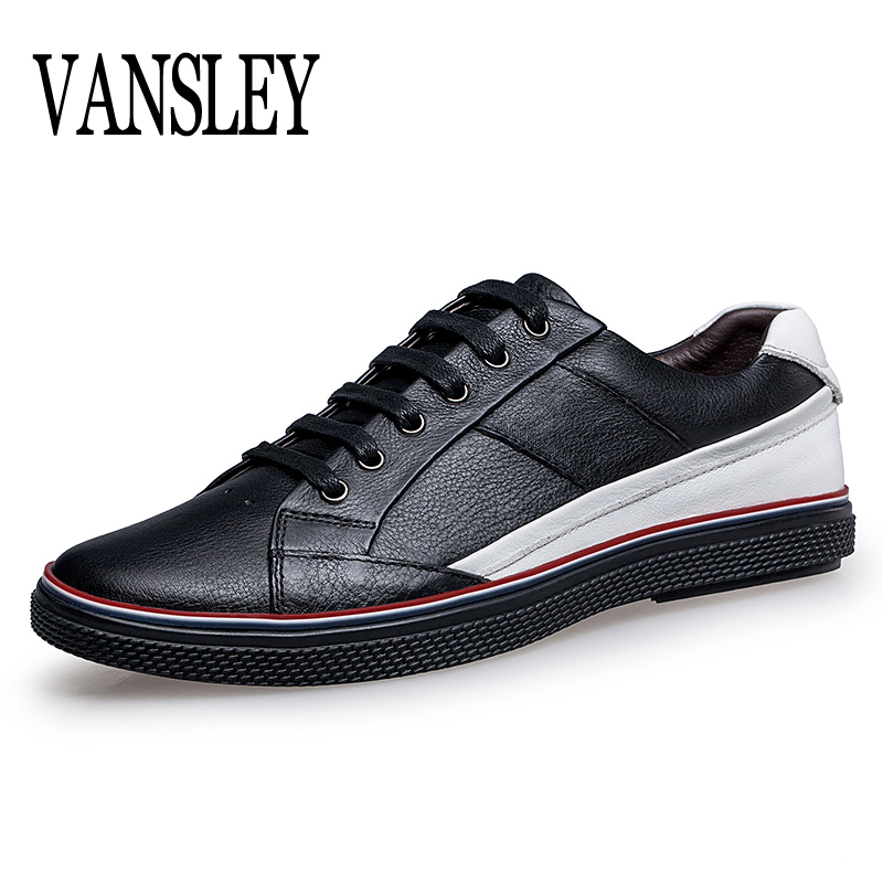 New Big Size Men Shoes Fashion Black Men Casual Shoes Genuine Leather Male Casual Shoes Luxury Italian Brand Men Flats Shoes<br>