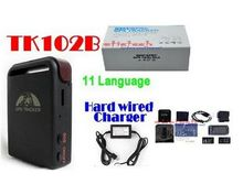 by dhl or ems 20 pieces original GPS Tracker TK102 with 1 PC Battery + Car Charger, TK102B(China)