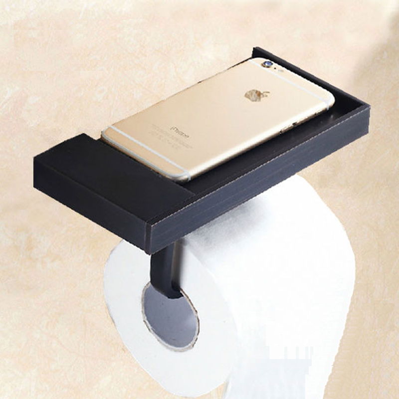 2PCS Brass Black/Antique Surface Paper Towels Toilet Planes Tissue Boxes WC Roll Paper Holder Wall Mounted Bathroom Accessory<br>