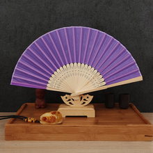 Wholesale Free Shipping Chinese Japanese Folding Fan Portable Women Fans Craft Souvenir Home Decor Hand Held Dance Fan